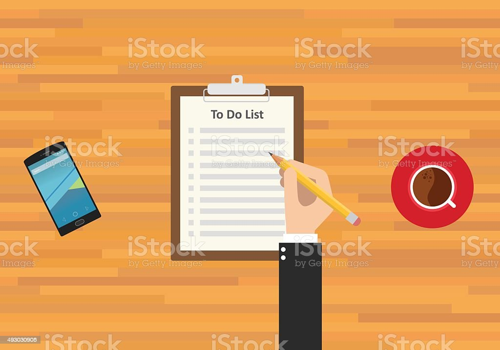 to do list vector art illustration