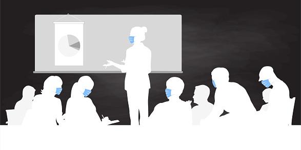 To Teach High School During Coronavirus Chalkboard