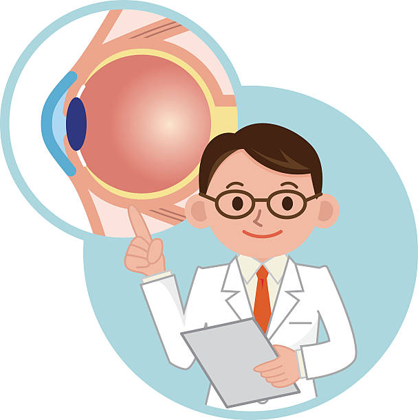 to the description of the eye doctor - 検眼医点のイラスト素材/クリップアート素材/マンガ素材/アイコン素材