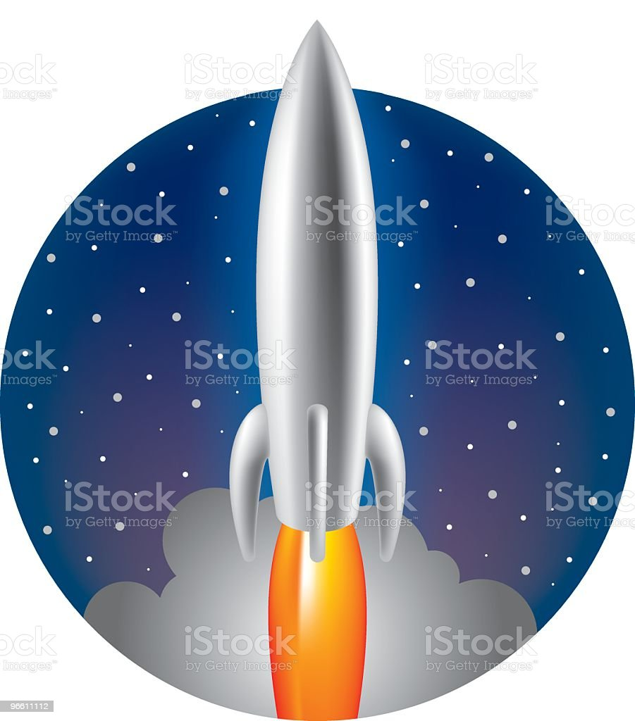 to the moon alice - Royalty-free Astronomy stock vector