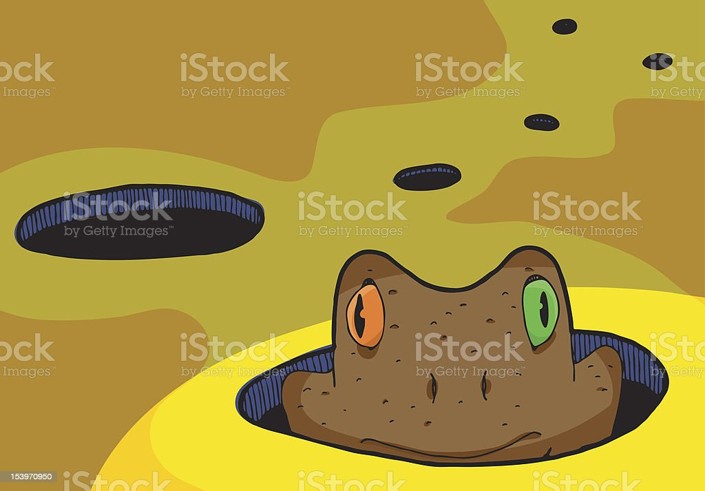Toad In The Hole royalty-free stock vector art