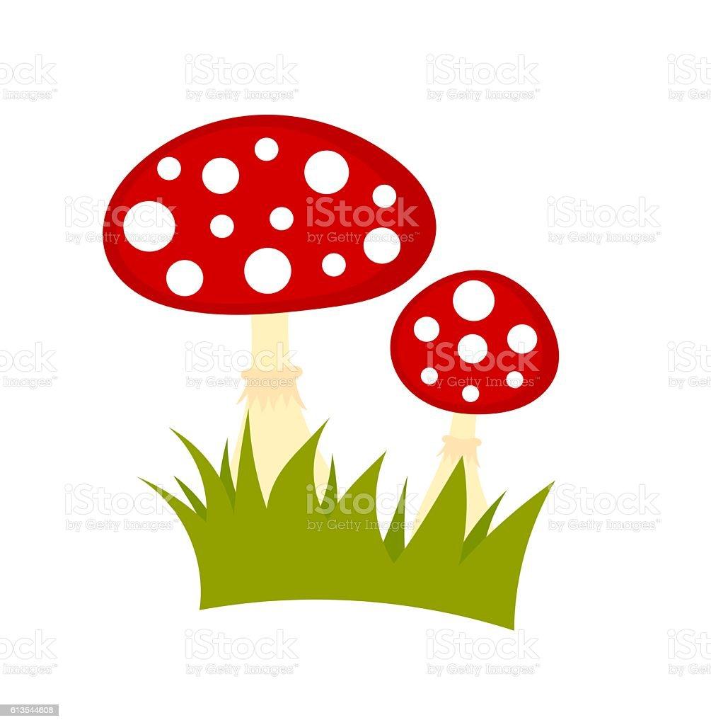 Toadstools mushrooms vector vector art illustration