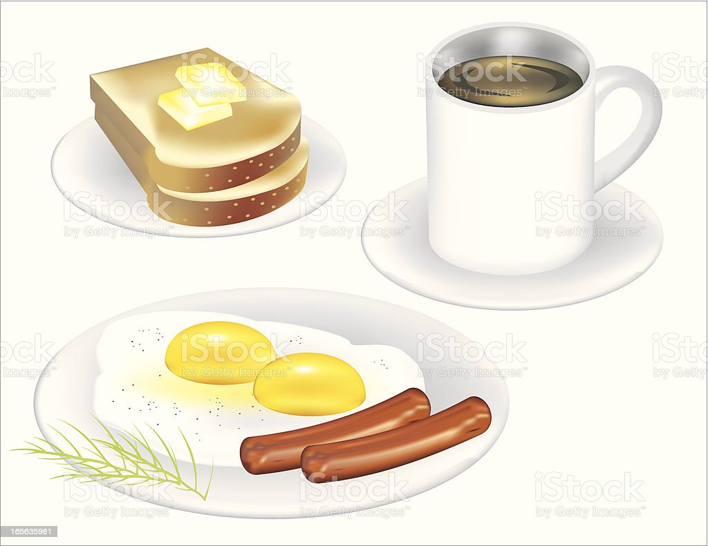 Toast and eggs Breakfast royalty-free toast and eggs breakfast stock vector art & more images of bread