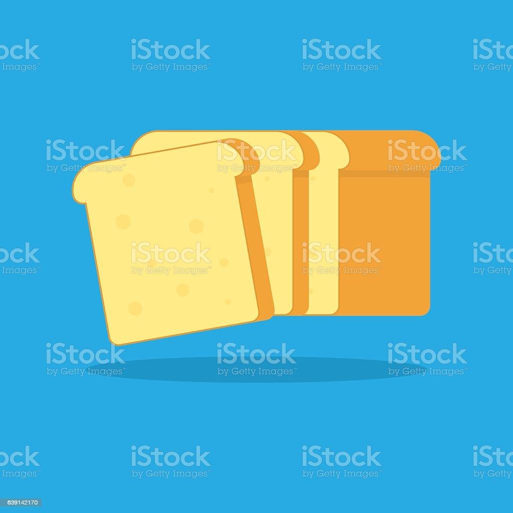 Toast bread vector icon. vector art illustration