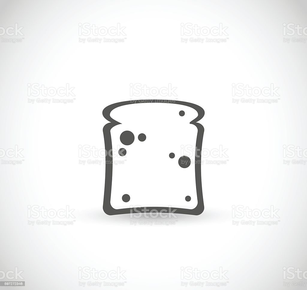 Toast icon vector illustration toast icon vector illustration – cliparts vectoriels et plus d'images de aliment libre de droits