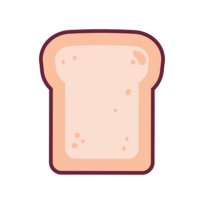 Toast isolated