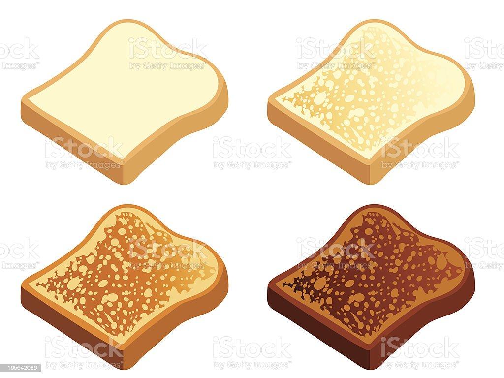 Pan tostado - ilustración de arte vectorial