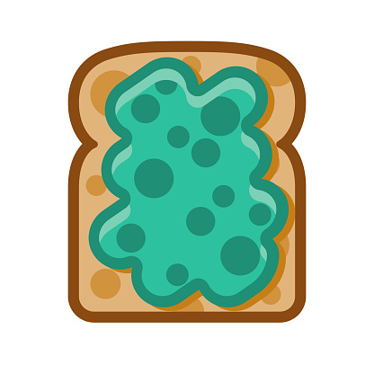 Toast with Avocado Icon on Transparent Background
