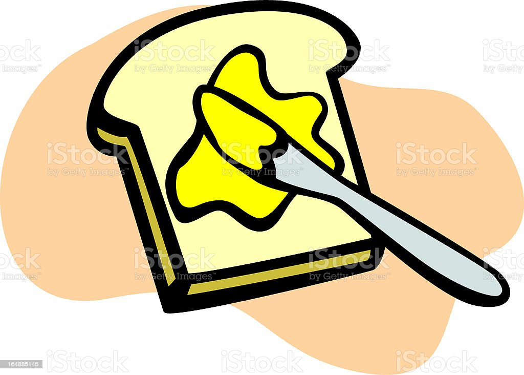 toast with butter royalty-free stock vector art