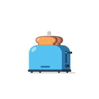 Toaster and bread