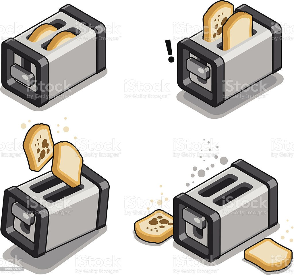 Toaster strip royalty-free stock vector art
