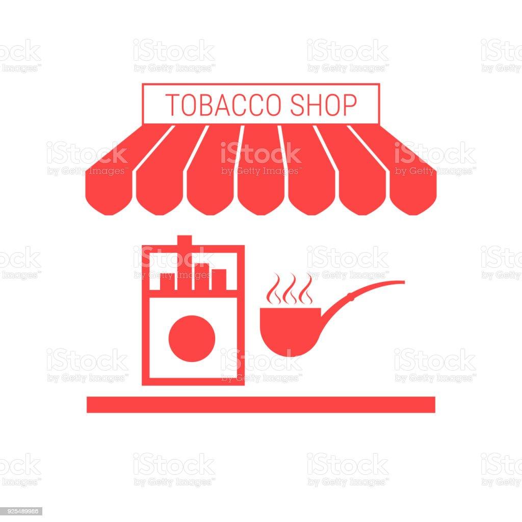 Ilustra o de loja de tabaco cigarro quiosque nico vetor for Borne free bureau de tabac