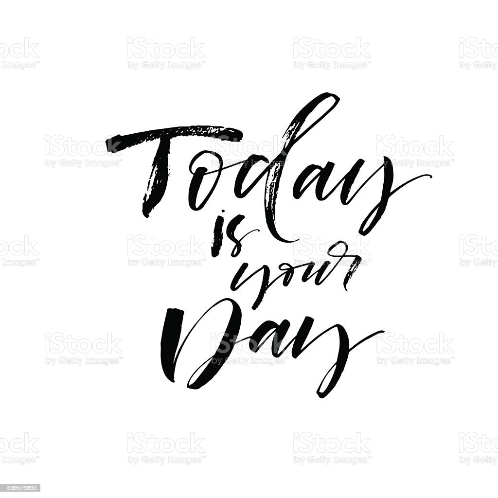 Today Is Your Day Postcard Stockvectorbeelden 636576890 Istock
