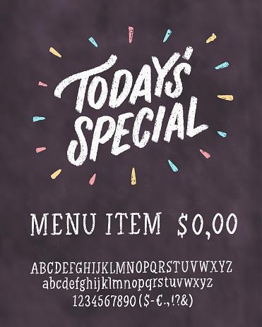 todays special menu chalkboard menu template stock. Black Bedroom Furniture Sets. Home Design Ideas