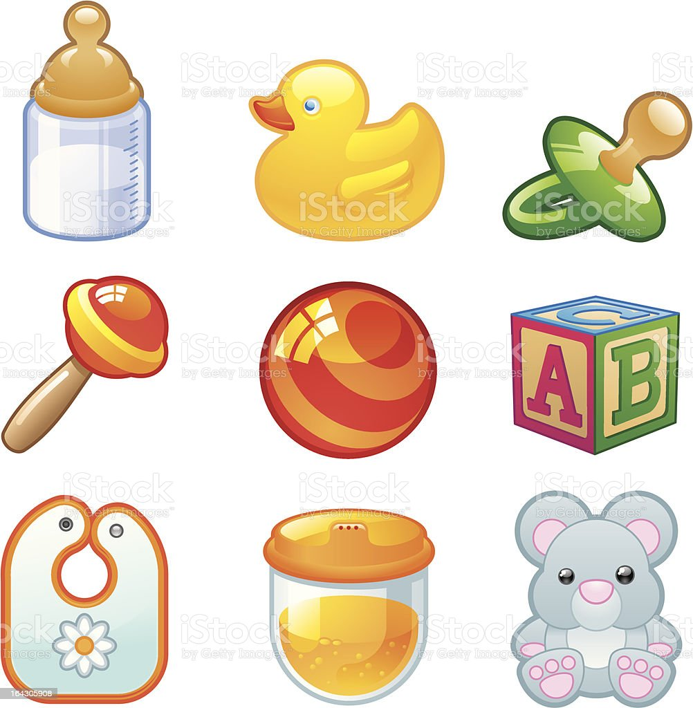 Toddler Essentials royalty-free stock vector art