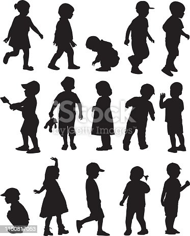 istock Toddler Silhouettes 1150817053