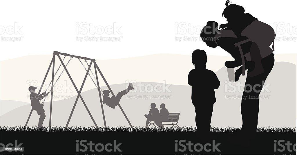 Toddler'n Kids Vector Silhouette royalty-free stock vector art