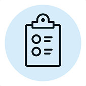 To-Do list - Pixel Perfect Single Line Icon
