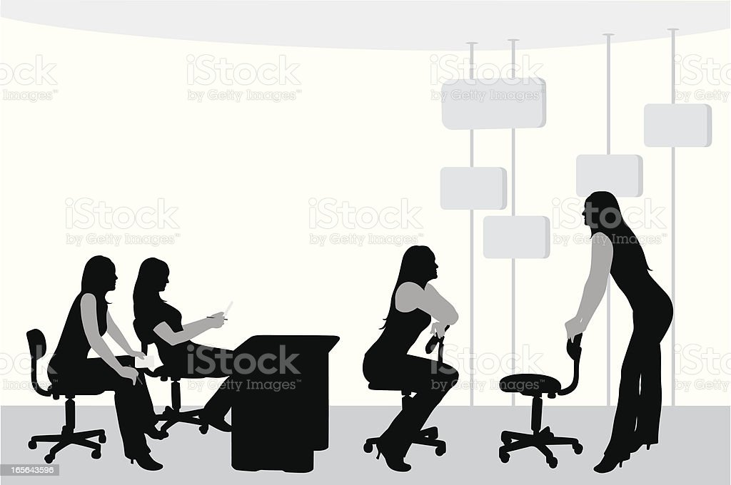 Together Vector Silhouette royalty-free stock vector art