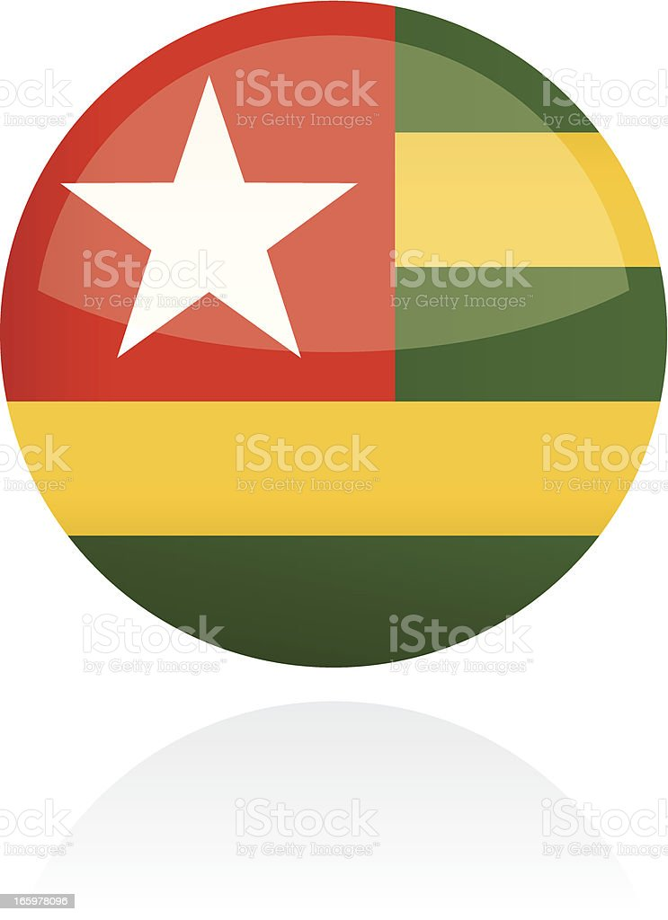 Togo, Africa Flag Button royalty-free togo africa flag button stock vector art & more images of all african flags