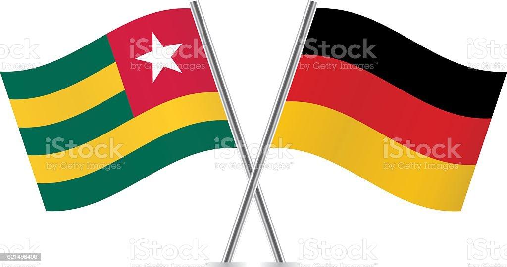 Togo and German flags. Vector. Lizenzfreies togo and german flags vector stock vektor art und mehr bilder von deutsche flagge