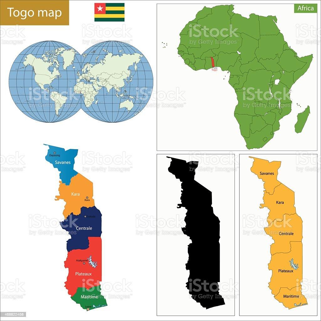 Ilustracin de togo mapa y ms banco de imgenes de 2015 468822458 ilustracin poltica territorial togo frica gumiabroncs Images