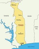Togo - Togolese Republic - vector map
