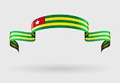 Togolese flag background. Vector illustration.