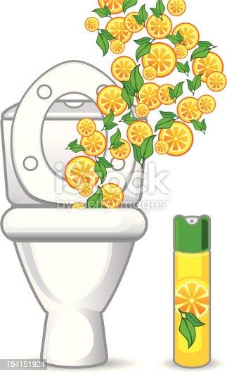 Toilet And Orange Air Freshener Stock Vector Art & More ...