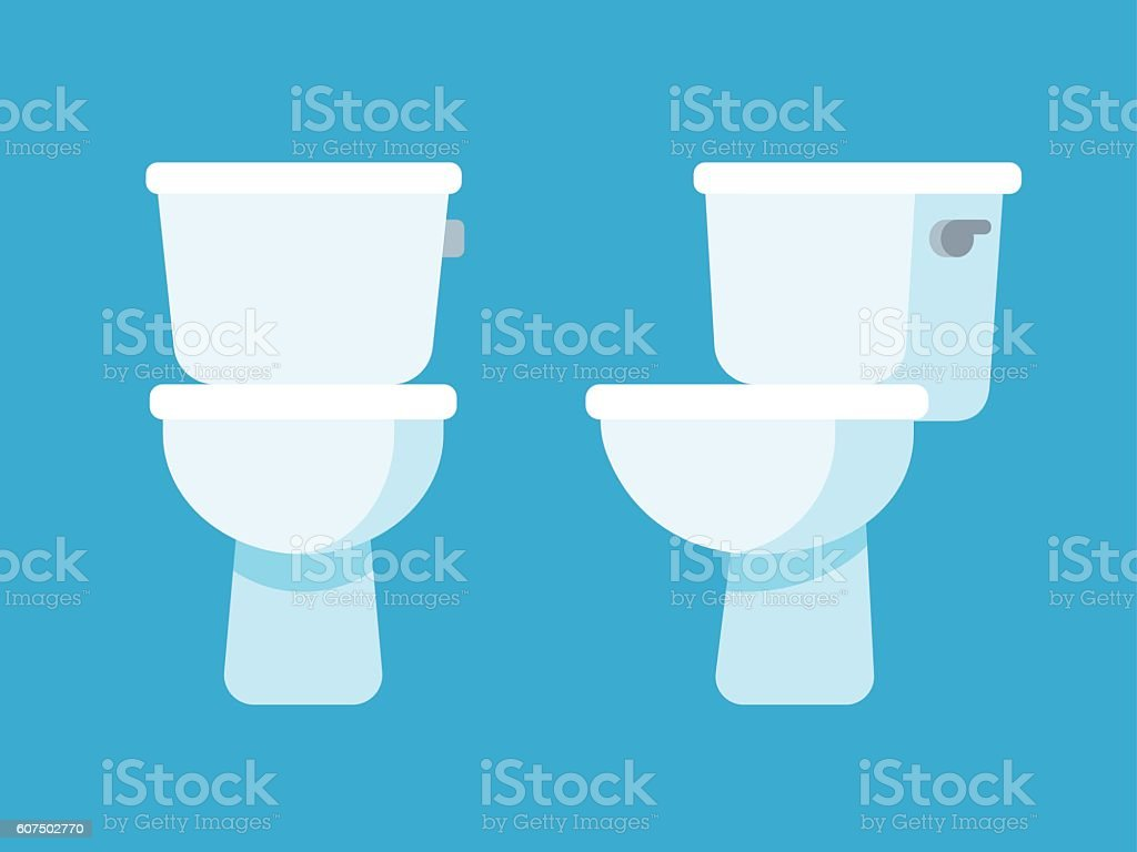toilet bowl illustration vector art illustration