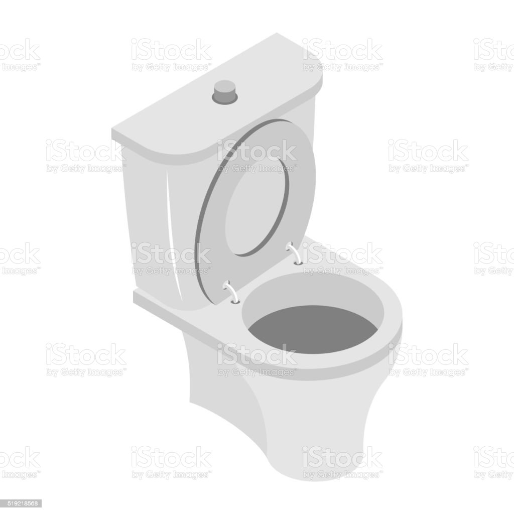 Toilet Bowl On White Background Ws Accessories Isolated Stock Vector ...