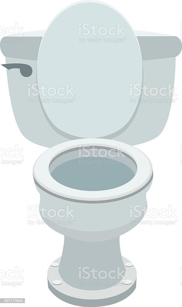 Vaso sanitário - ilustração de arte em vetor