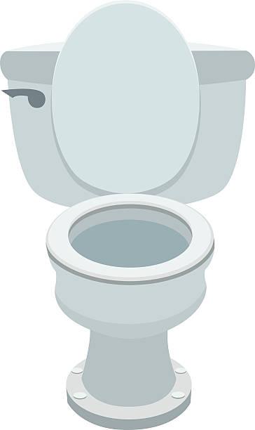 Toilet Bowl A vector cartoon of a toilet bowl bathroom clipart stock illustrations