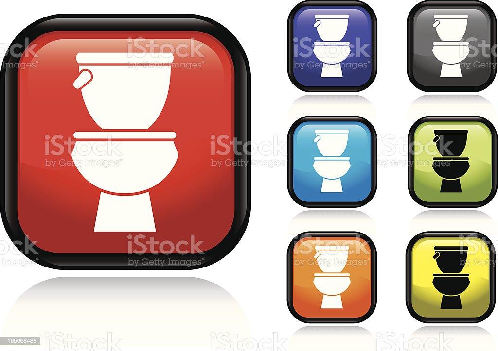 Toilet Icon vector art illustration
