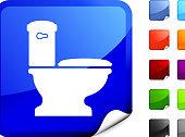 toilet icon on sticker