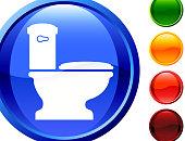 toilet  glossy icon