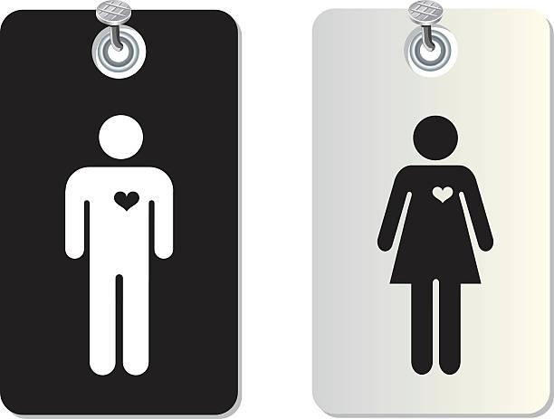 Toilettes Étiquette tag - Illustration vectorielle