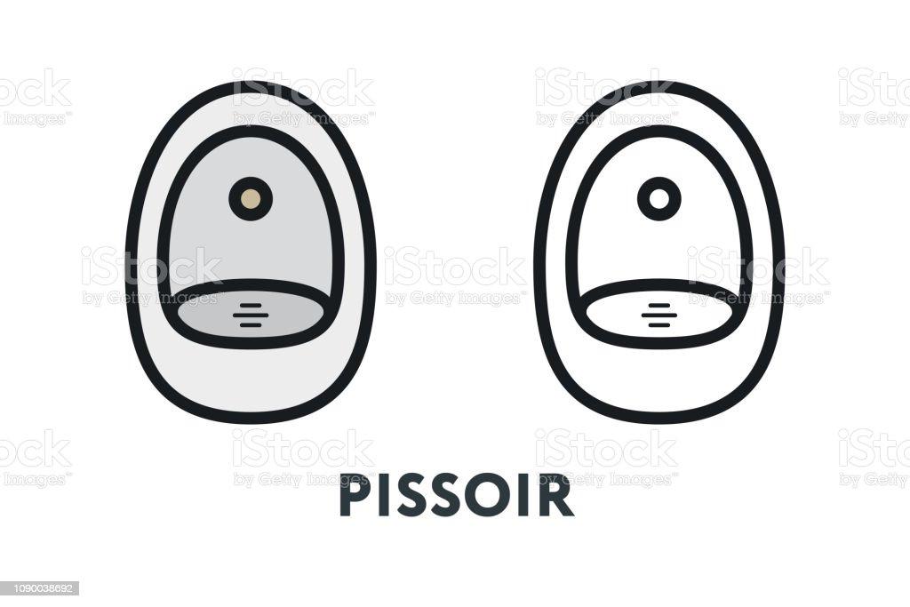 Toalett Manliga Urinoar Pissoir Toaletten Minimal Färg Platt