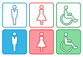 Men and women icon for WC