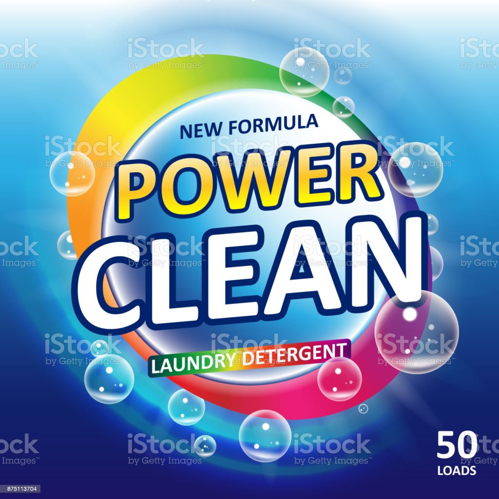 Toilet Or Bathroom Tub Cleanser Banner Ads Laundry Detergent - Bathroom detergent