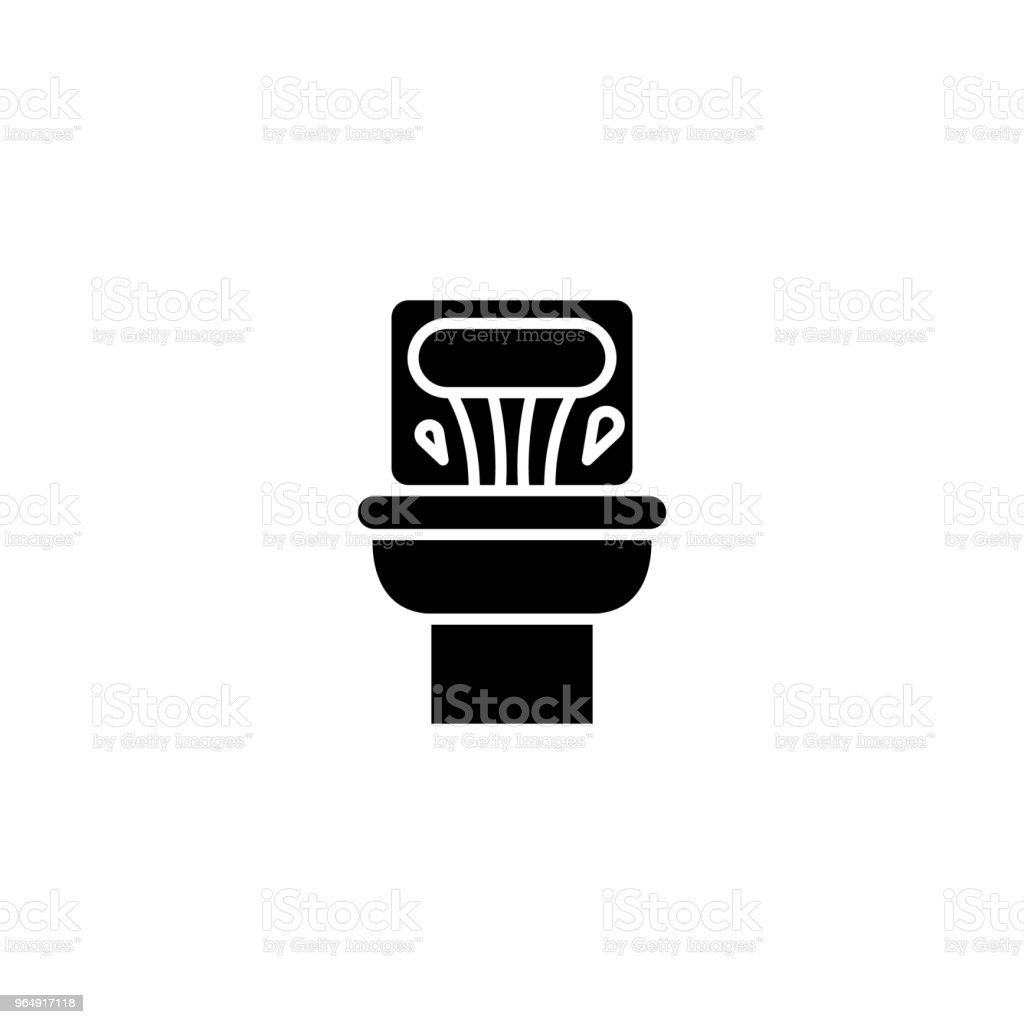 Toilet pan black icon concept. Toilet pan flat  vector symbol, sign, illustration. royalty-free toilet pan black icon concept toilet pan flat vector symbol sign illustration stock vector art & more images of art