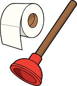 Toilet Paper and Plunger
