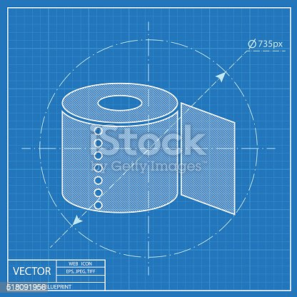 Toilet paper blueprint icon stock vector art more images of toilet paper blueprint icon stock vector art more images of bathroom 518091956 istock malvernweather Image collections