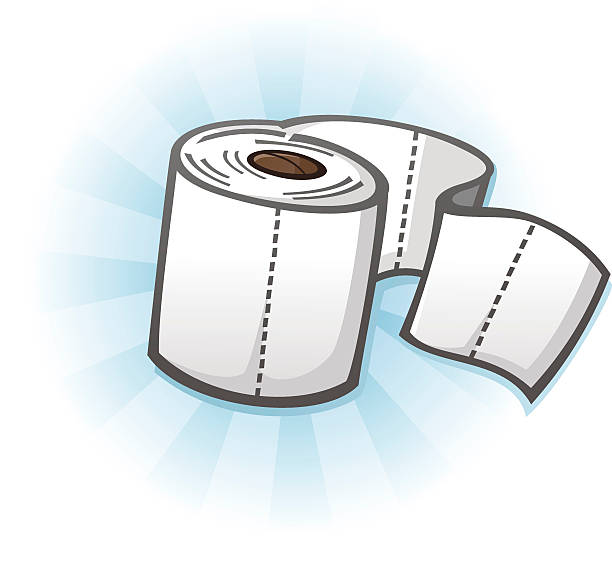 Royalty Free Cartoon Of A Toilet Paper Roll Clip Art ...