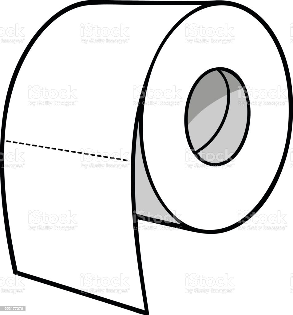 Toilet Paper Illustration Stock Vector Art & More Images ...