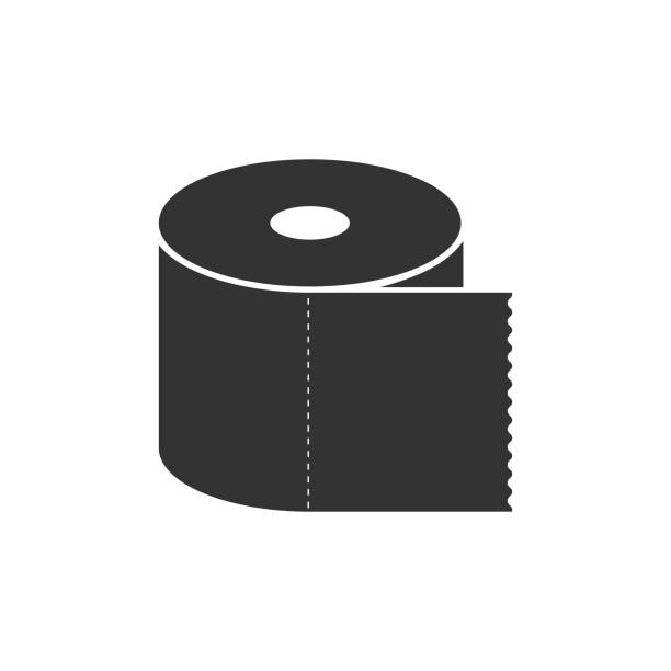 toilet paper roll icon isolated. flat design. vector illustration - papier toaletowy stock illustrations