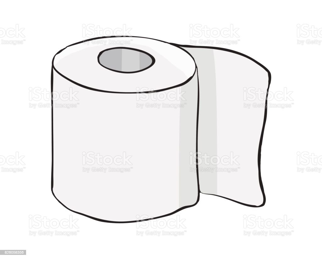 Toilet Paper Roll Vector Symbol Icon Design Beautiful ...