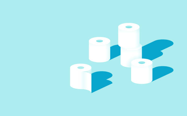 illustrazioni stock, clip art, cartoni animati e icone di tendenza di toilet paper rolls - carta igienica