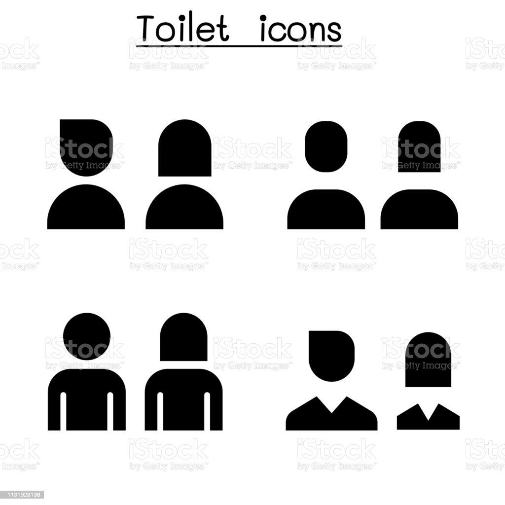Toilet Restroom Wc Icon Set Stock Illustration Download Image