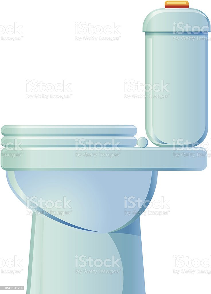 Toilet Side View Vector Icon Royalty Free Stock Art